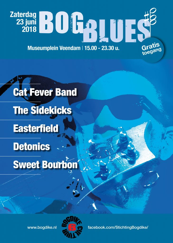 BogBlues zaterdag 23 juni 2018 Museumplein Veendam