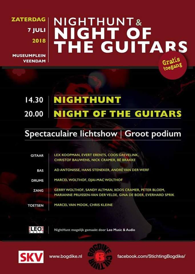 NightHunt 2018 en buiteneditie Night of the Guitars 2018 op het Museumplein in Veendam