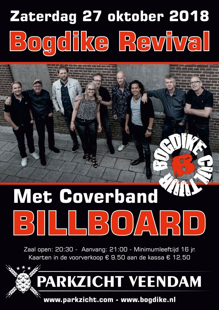 Bogdike Revival met coverband Billboard in Brouwhotel Parkzicht Veendam