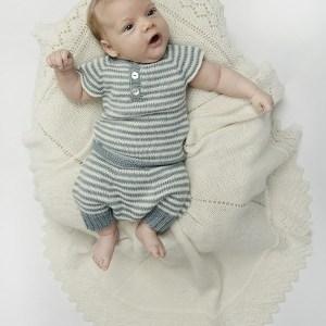 Stribet babyundertøj fra Onion Knit