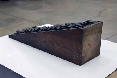 Hamilton Wood Furniture Cabinet with Wooden Letterpress Furniture
