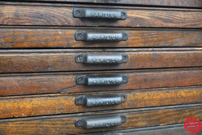 Hamilton Letterpress Type Cabinet - 24 Drawers - 021920115615