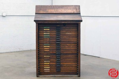 Hamilton Letterpress Type Cabinet - 24 Drawers - 022020091850