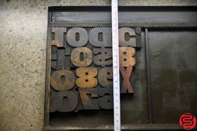 Assorted Letterpress Wood Type - 022120033405