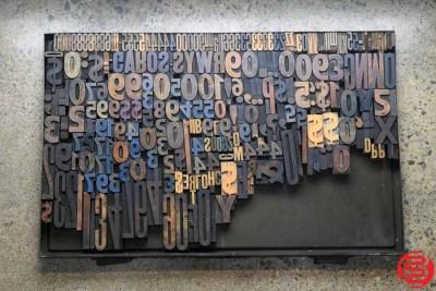 Assorted Letterpress Wood Type - 022120033750
