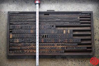 Assorted Letterpress Wood Type - 022120100705