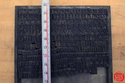 Assorted Letterpress Wood Type - 022120113440