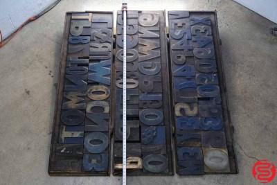 Assorted Letterpress Wood Type - 022220105745