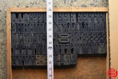 Assorted Letterpress Wood Type - 1.5 - 032520085240