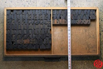 Assorted Letterpress Wood Type - Full Capitals - 1.5 - 032520023520