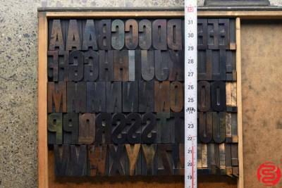 Assorted Letterpress Wood Type - Full Capitals - 2 - 032520102500