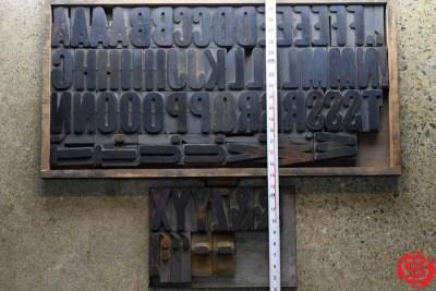 Assorted Letterpress Wood Type - Full Capitals - 3 - 032620072230
