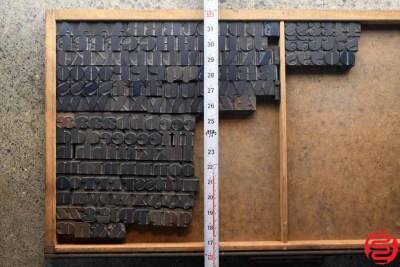 Assorted Letterpress Wood Type - Full Capitals Full Lowercase - 1 - 032520111550