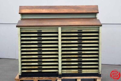 Letterpress Type Cabinet - 24 Drawers - 022420111330