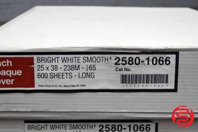 Finch Opaque Bright White Smooth 65 lb Cover 25 x 38 Paper - 2 Cases - 060320014020
