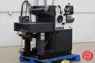 Toko 4750-CD Two Color Offset Printing Press - 092520092810