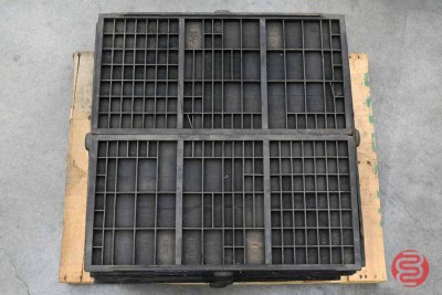 Assorted Letterpress Hamilton Type Cabinet Drawers - 112420024710