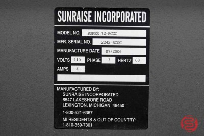 2006 Sunraise Super 12 BC Business Card Slitter - 103020100020