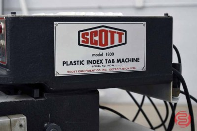 Scott 1800 Plastic Index Tab Machine - 120720074830
