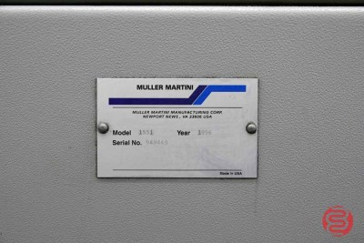 1996 Muller Martini Presto Eight Pocket Saddle Stitching System w/ Cover Feeder and Hand Feed Station- 110920104840