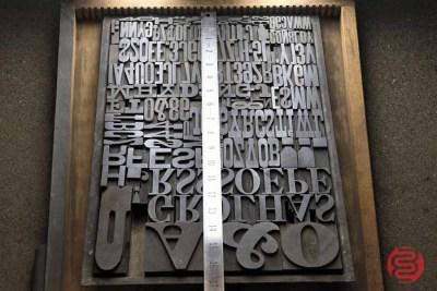 Assorted Antique Letterpress Letter Blocks - 020521112750
