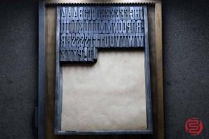 Assorted Antique Letterpress Letter Blocks - 020621085920