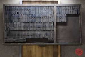 Assorted Antique Letterpress Letter Blocks - 020621093130