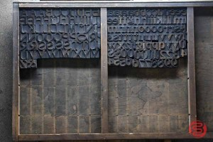 Assorted Antique Letterpress Letter Blocks - 020621102950