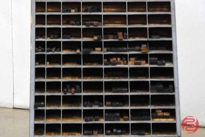 Hamilton Letterpress Furniture Cabinet w/ Assorted Wood Furniture - 020821102300