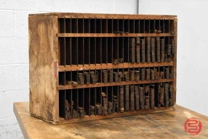 Hamilton Letterpress Furniture Cabinet w/ Assorted Wood Furniture - 021121083530