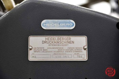 1982 Heidelberg MO Printing Press w/ Bacher Die Punch - 041421090520