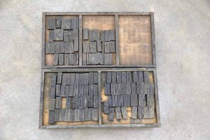 Assorted Antique Letterpress Letter Blocks - 020621094440