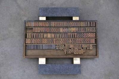 Assorted Antique Letterpress Letter Blocks - 040921011730
