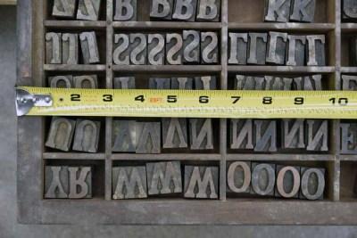 Assorted Antique Letterpress Letter Blocks - 040921012550