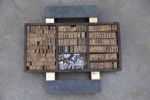 Assorted Antique Letterpress Letter Blocks - 040921013530