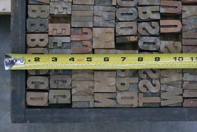 Assorted Antique Letterpress Letter Blocks - 040921013530