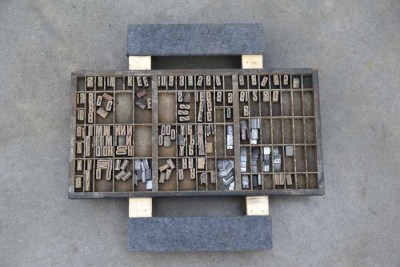 Assorted Antique Letterpress Letter Blocks - 040921015120