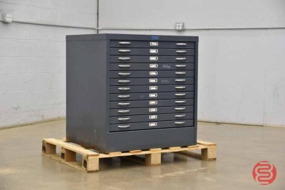 Foster Flat Filing Cabinet - 12 Drawers - 041621075510
