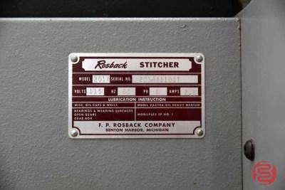 Rosback 201A Book Binding Saddle Stitcher - 041421095050