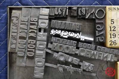 Assorted Letterpress Font Metal Type - 050521023132