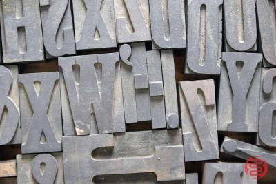 Assorted Letterpress Font Metal Type - 050521101012