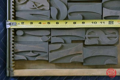 Assorted Letterpress Font Metal Type - 050521102034