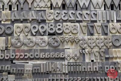 Assorted Letterpress Font Metal Type - 050521124612