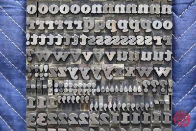 Assorted Letterpress Font Metal Type - 050621092210