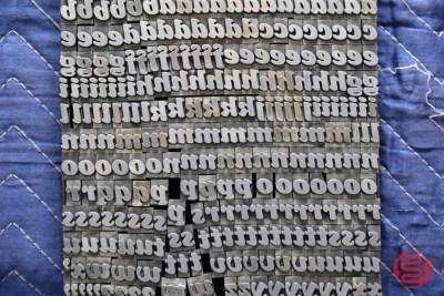 Assorted Letterpress Font Metal Type - 050621102955