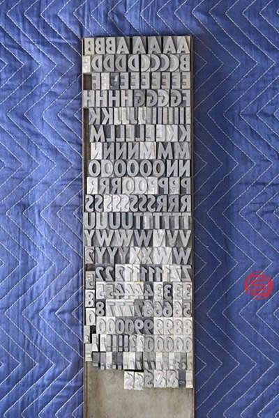 Assorted Letterpress Font Metal Type - 050621103451
