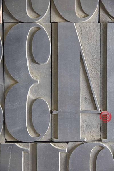 Assorted Letterpress Font Wood Type - 050721014743