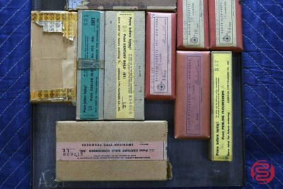 Assorted New Type Font Boxes (Qty - 14) - 050521012657