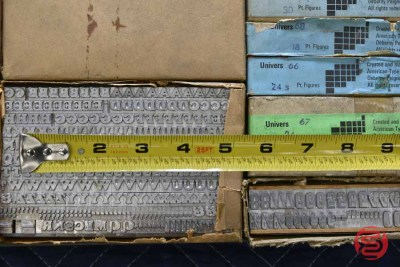 Assorted New Type Font Boxes (Qty - 14) - 050521024238