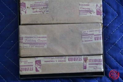 Assorted New Type Font Boxes (Qty - 9) - 050621102346